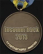 Insomni'hack 2013 Medal of Craptography